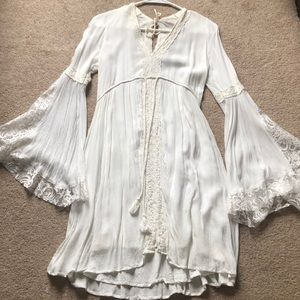Abercrombie off white dress Large